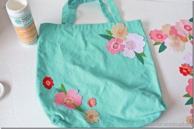 Fabric Applique Tote Bag