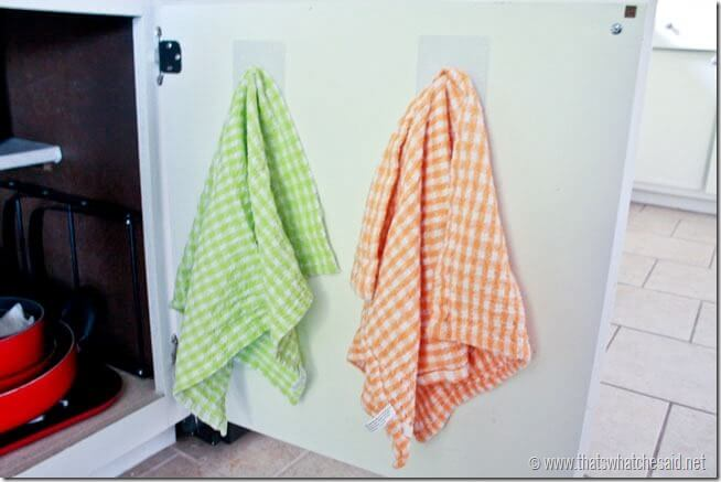 Hang Kitchen Towels with Gecko Hooks