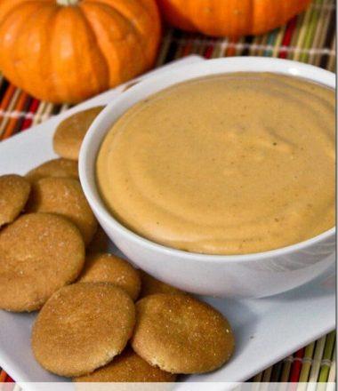 3 Ingredient Pumpkin Dip Recipe at thatswhatchesaid.net_