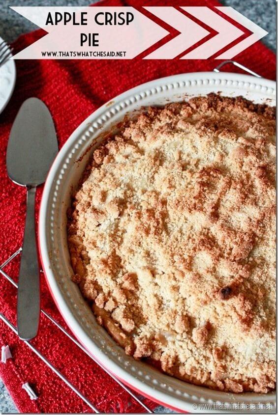 Apple Crisp Pie Recipe. Combine Apple Pie and Apple Crisp!