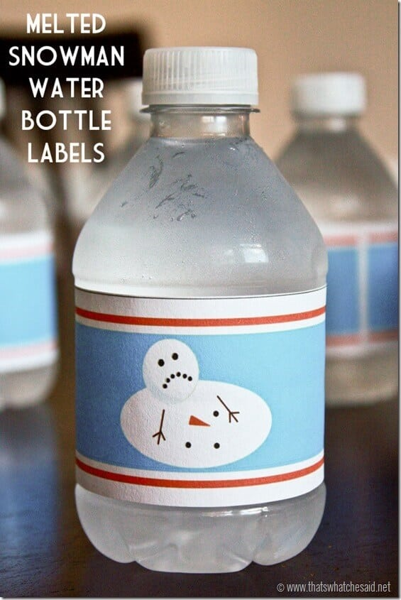 Melted Snowman Printable Label