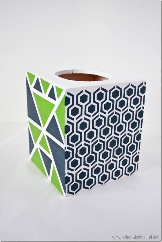 Geometric Tissue Cover at thatswhatchesaid.net