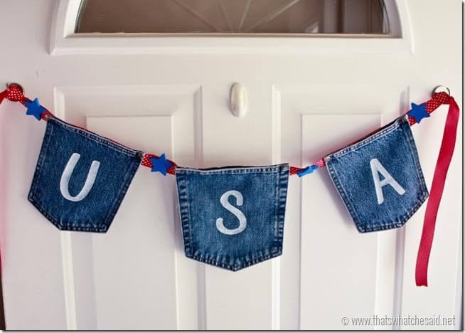 Patriotic Banner from Jean Pockets at thatswhatchesaid.com