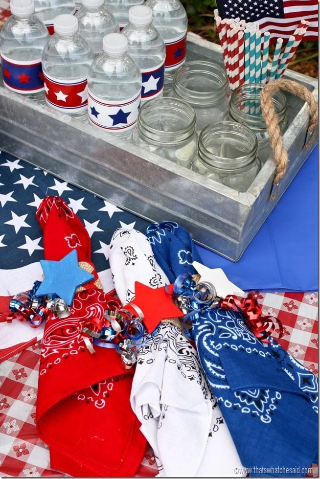 Red White & Blue Napkin Rings at thatswhatchesaid.com