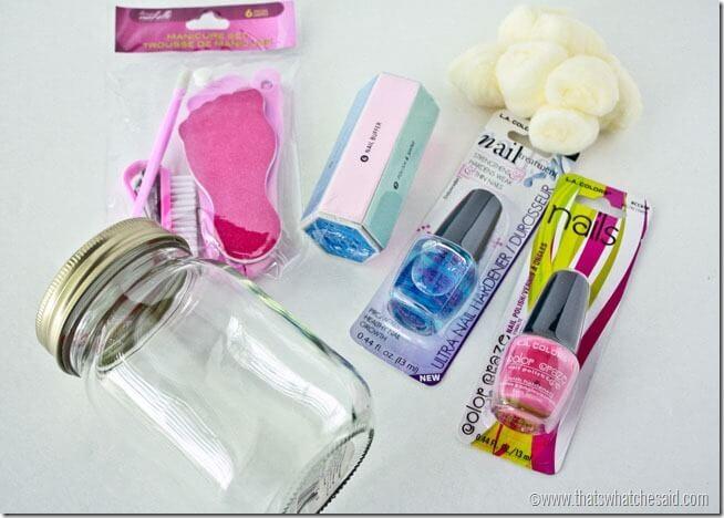 Manicure in a Jar Supplies