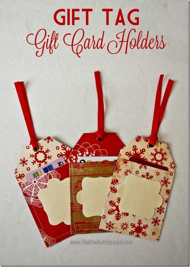 Gift Card holder ideas at thatswhatchesaid.com