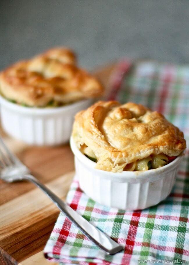 Single Serve Mac & Cheese Pot Pie