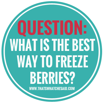 Freezing Berries.