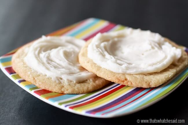 3 Ingredient Buttercream Frosting from thatswhatchesaid.com