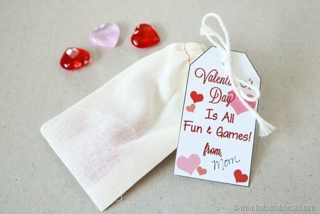 Free Heart Fun & Games Gift Tag Printable at www.thatswhatchesaid.com