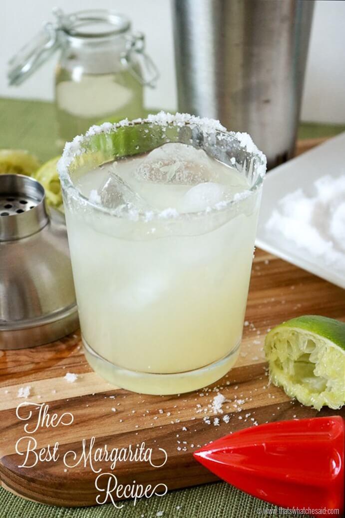 The Best Margarita Recipe! A Homemade Margarita using Fresh Ingredients.