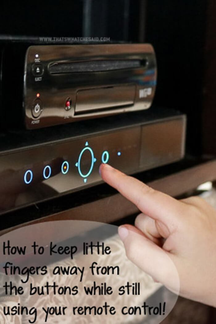 Easist Way to Keep Little Kids Away from DVR Buttons