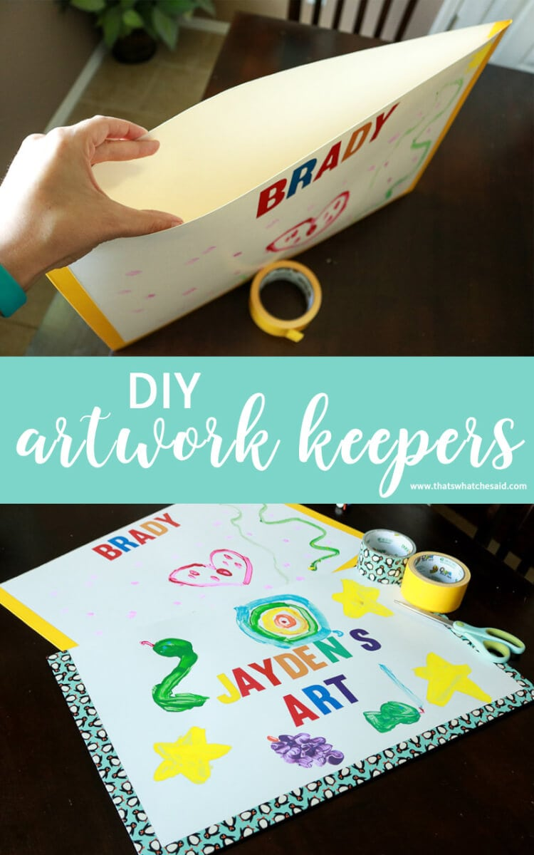 Easy to Make Artwork Keepers to coral all the masterpieces your child brings home this s chool year