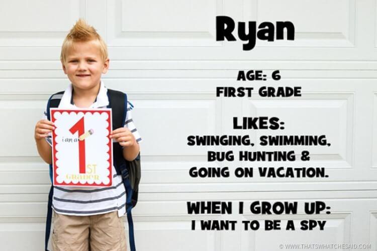 Ryan 1st grade