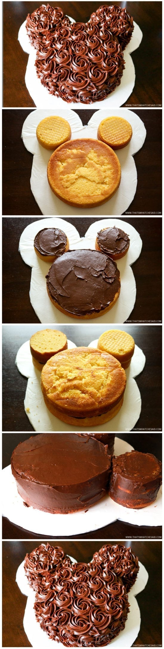 Rose Iced Mickey Mouse Cake