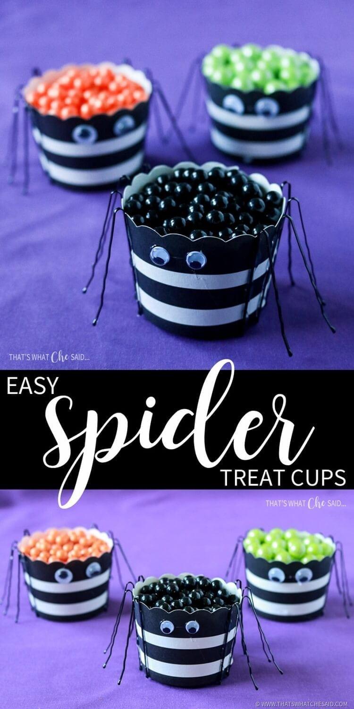 DIY Spider Treat Cups