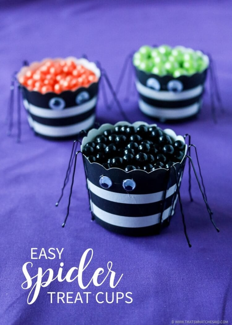 Easy Spider Treat Cups