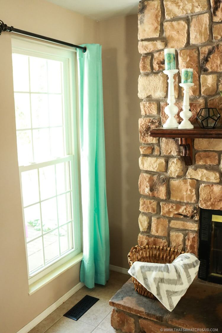 Add Bright Curtains to freshen up your space