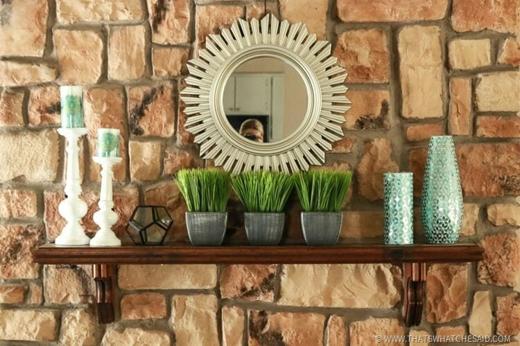 After - Mantel Update High Design for Less