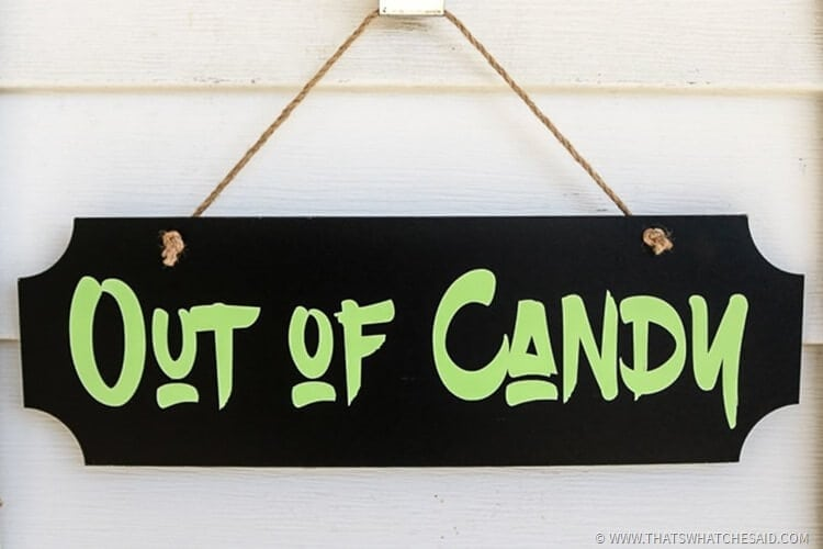 Glow-In-The-Dark Trick-or-Treat Sign-6