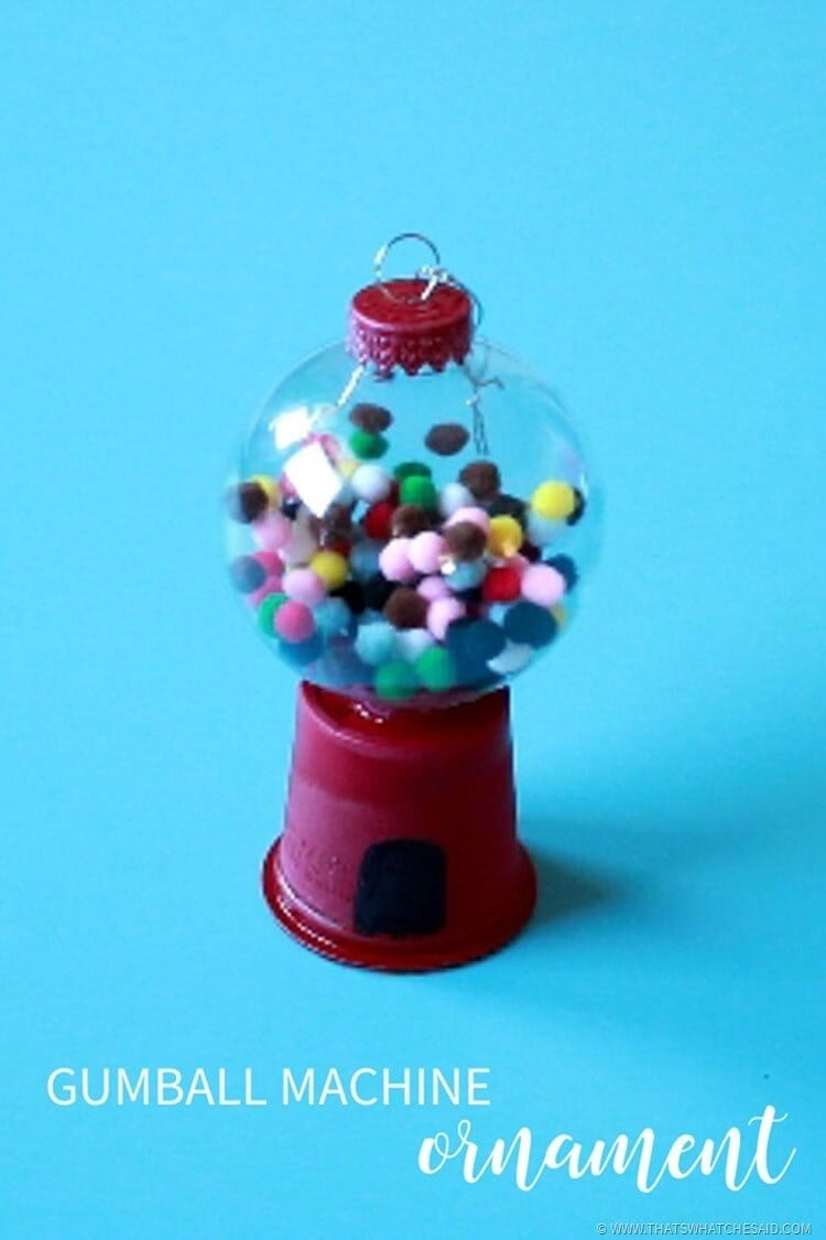 DIY Gumball Machine Ornament Craft