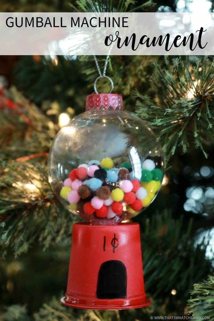Easy Gumball Machine Ornament