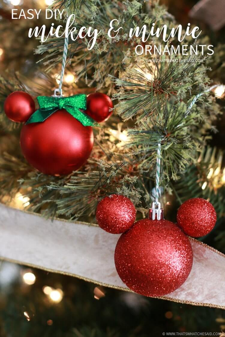 Easy Mickey Mouse Ornament