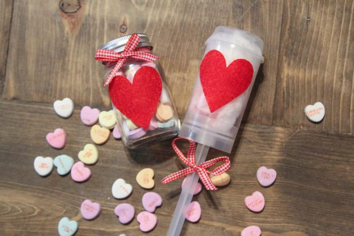 Party Poppers with Heart Felt Stickers