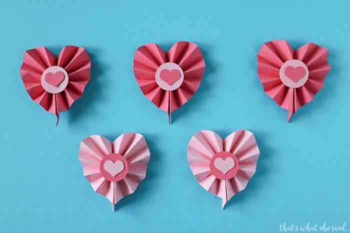 Paper rosette Hearts