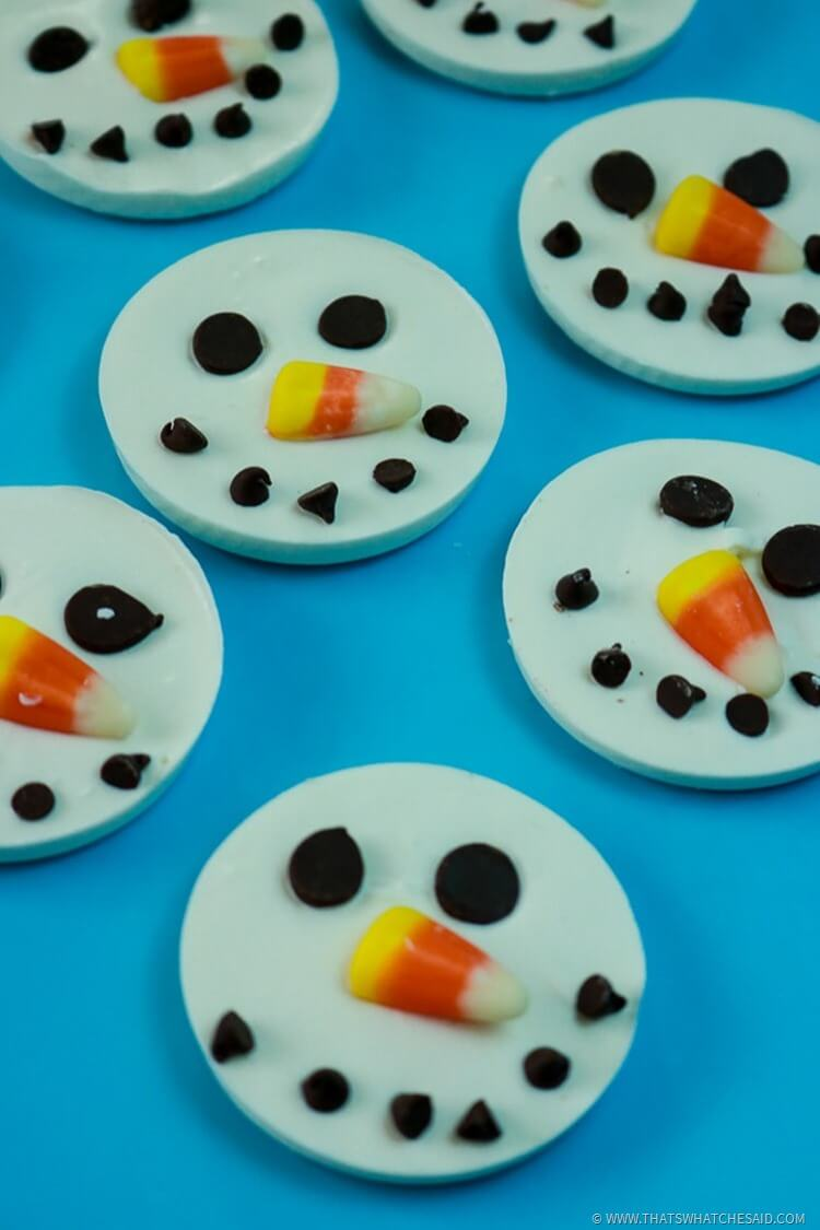 Snowmen Bark Candy