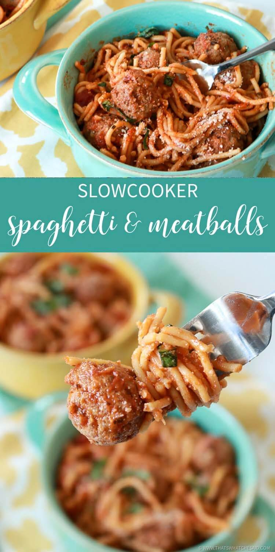 Spaghetti & Meatballs in a Crock Pot