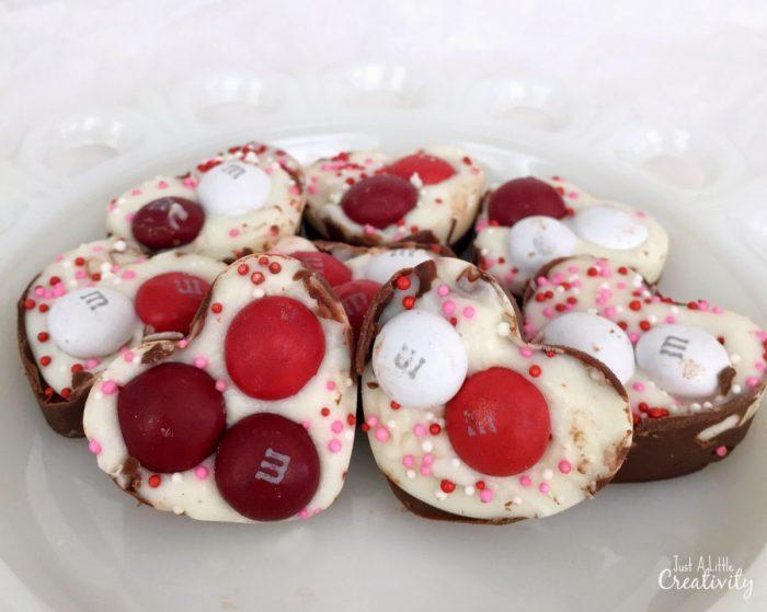 Red velvet candy hearts