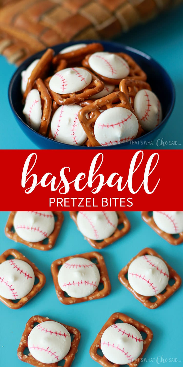 Baseball Pretzel Bites are perfect for any baseball party, little league snacks or for game day!