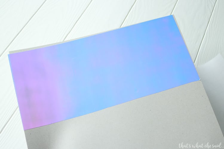 Working with holographic vinyl