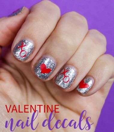 DIY Valentine Nail Decals
