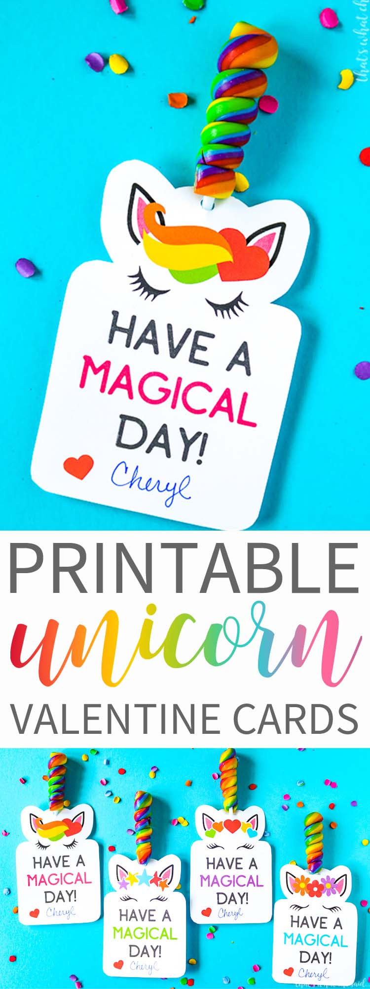 Printable Unicorn Valentine Cards