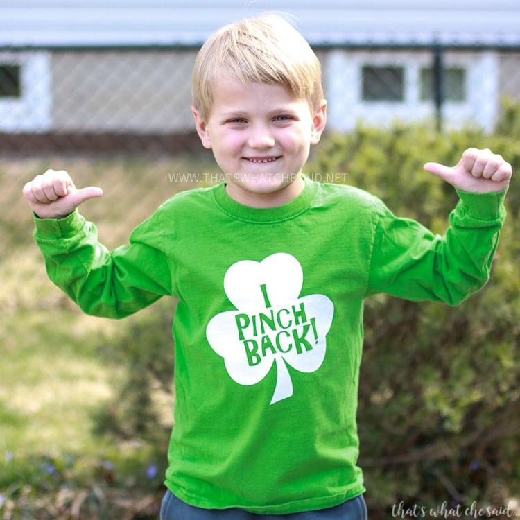 I Pinch Back St. Patrick's Day Shirt SVG Cut File