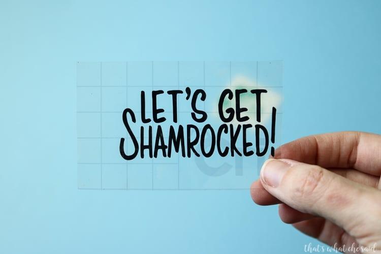 Let's Get Shamrocked SVG File