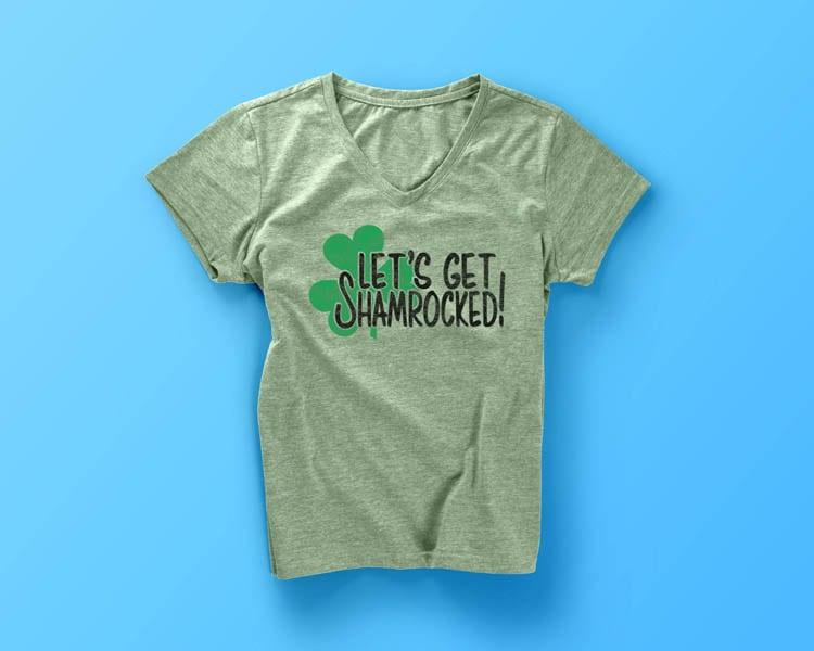 Let's Get Shamrocked DIY St. Patrick's Day Shirt Idea