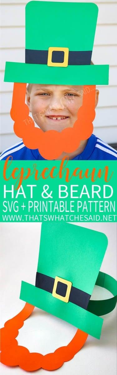 Paper Leprechaun Hat & Beard Cut Files + Patterns