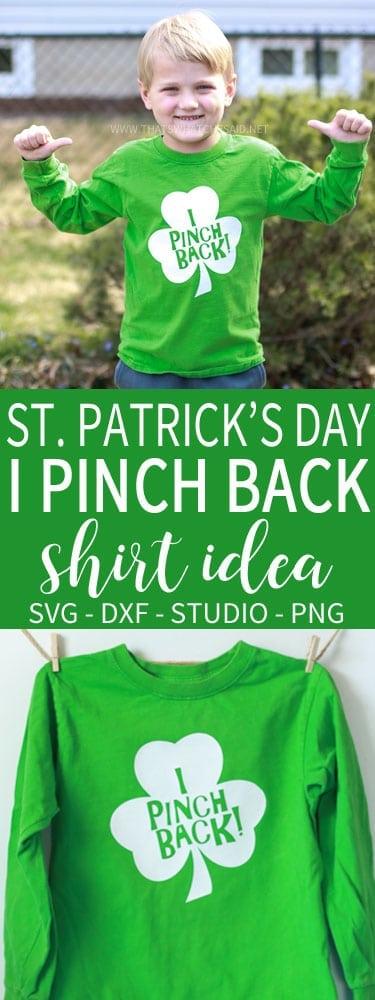 St. Patrick's Day Shirt Idea - I Pinch Back Shirt