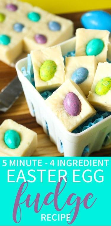5 Minute - 4 Ingredient Easter Fudge
