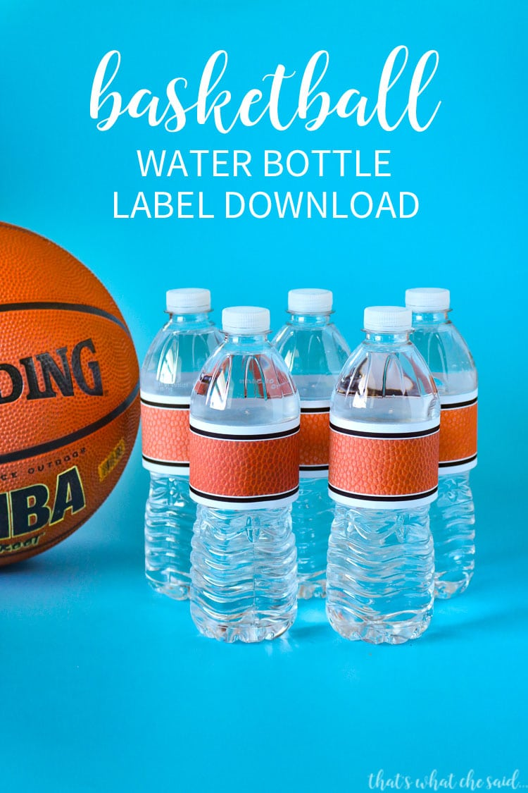 Basketball Water Bottle Label Download