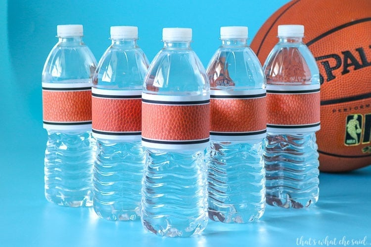 Water Bottle Labels for March Madness Tournament
