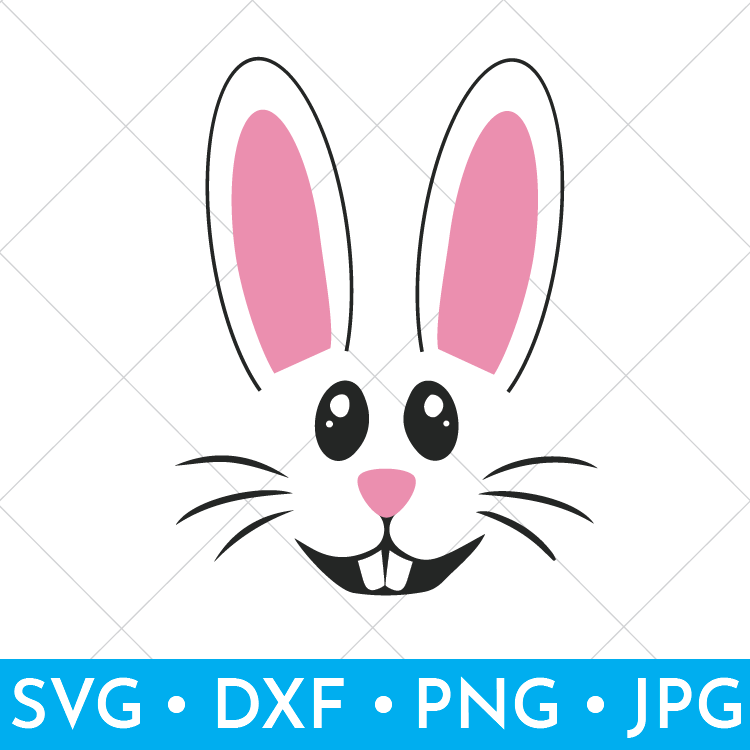 Cut File of Easter Bunny Face