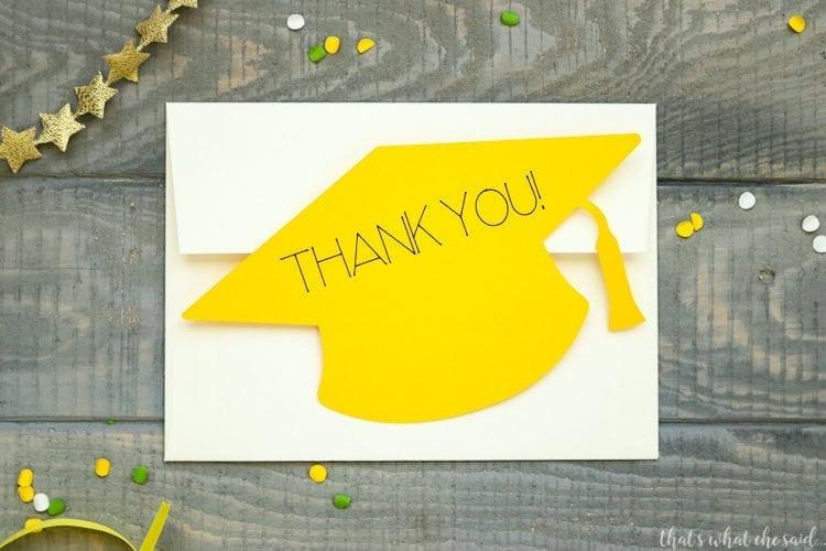 Graduation Cap Cards easily fit inside your envelopes