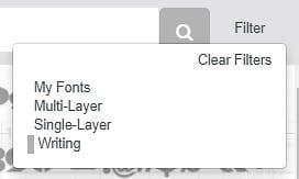 Select Writing Filter