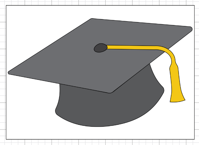 Sizing your Graduation Cap File for your Envelope