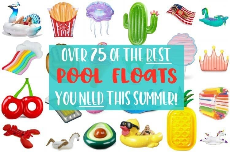 A selection of over 75 trendy pool floats perfect for summer