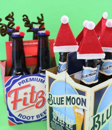 Christmas Santa & Reindeer Bottle Toppers